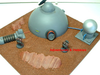 Remote colony world dome habitat shelter with power generator and water purification plant - UniversalTerrain.com