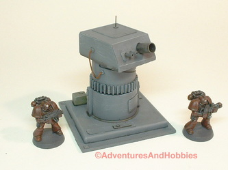 Remote weapons turret with cannon and dual heavy machine guns - UniversalTerrain.com