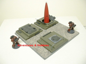 Underground missile silo with two launchers and one command module - UniversalTerrain.com