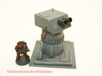 Remote weapons turret with dual heavy mortars - UniversalTerrain.com