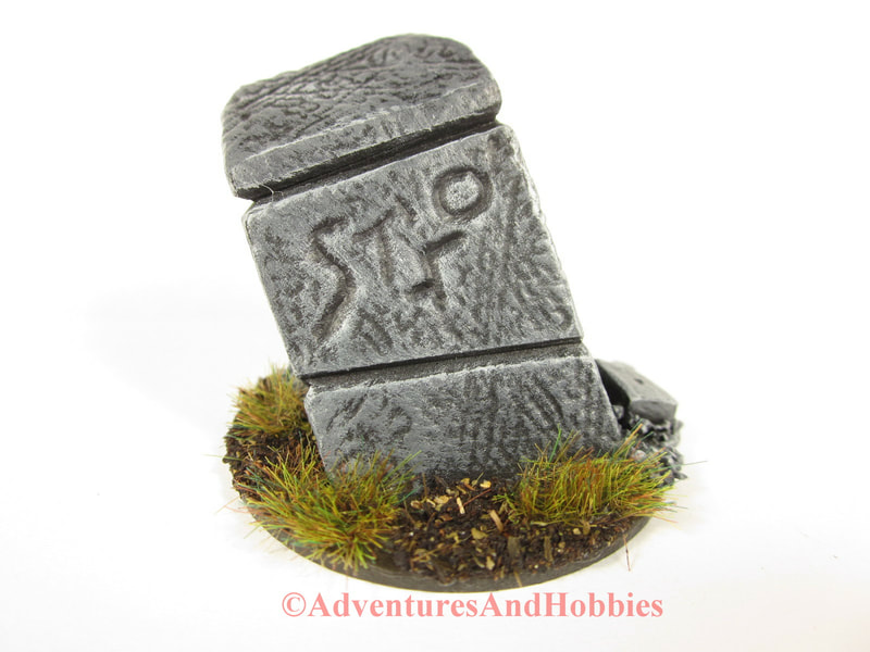 Leaning stone marker with strange inscriptions - UniversalTerrain.com