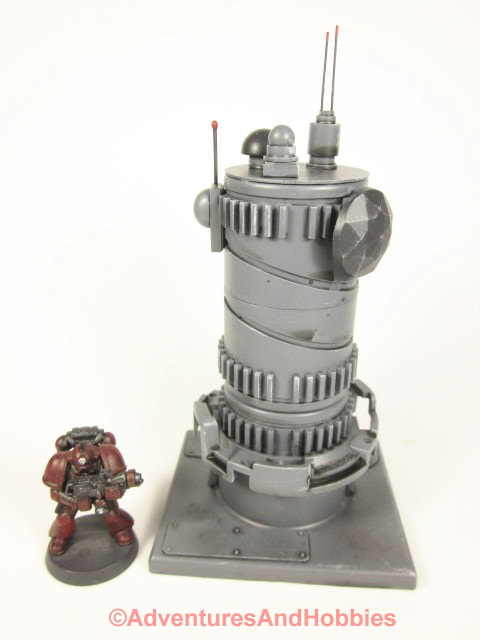 Miniature communications tower with multiple arrays T610 designed for 25-28mm scale tabletop wargames.